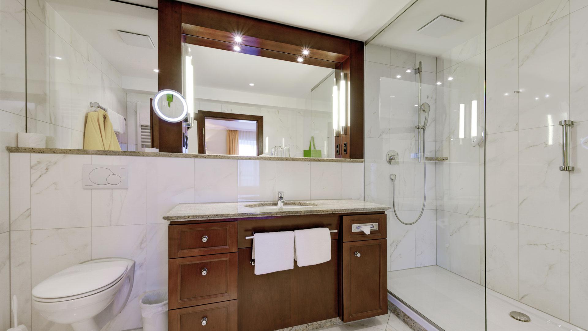 Badezimmer im DZ Bellevue