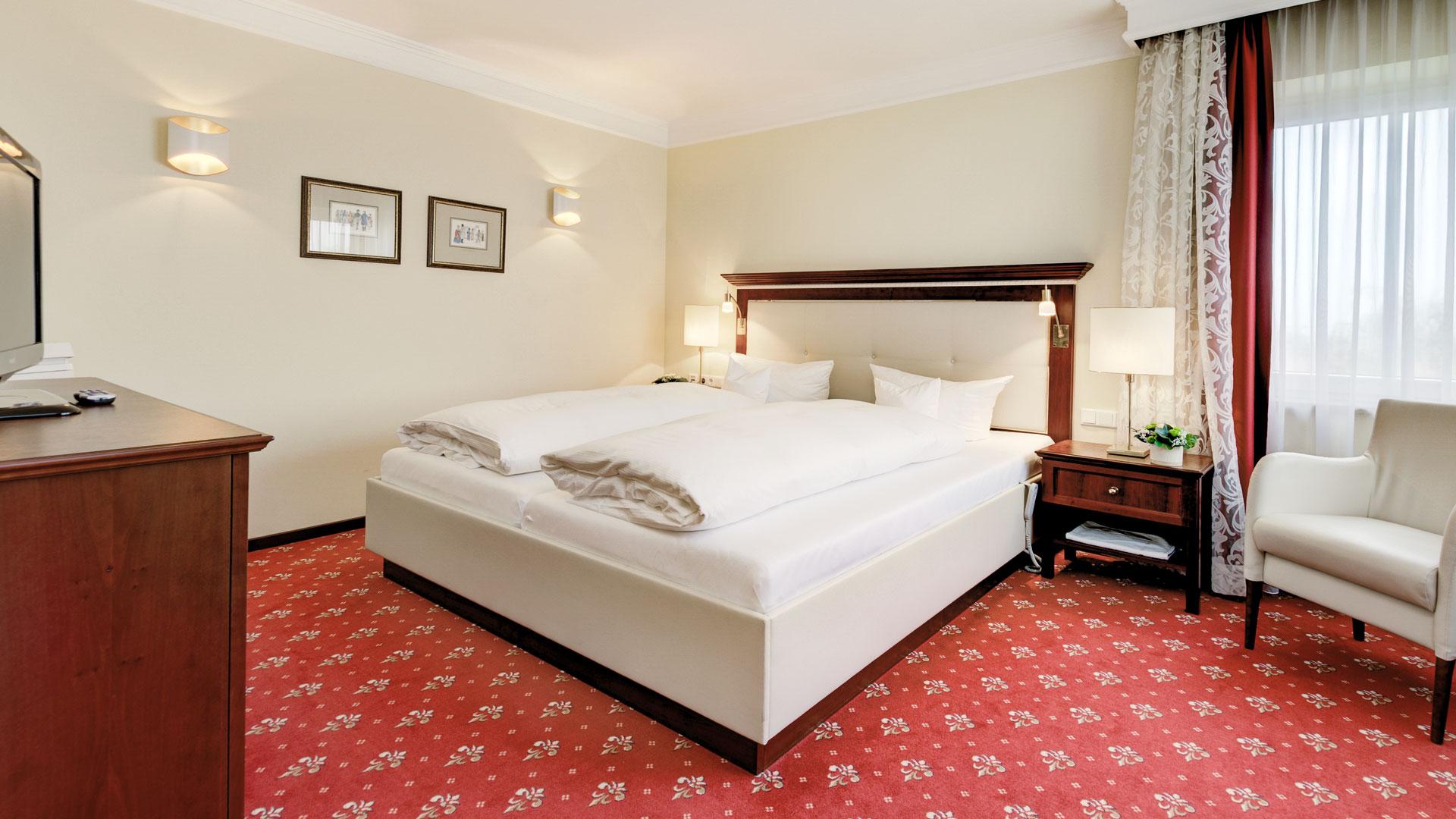Schlafbereich der Komfort Suite