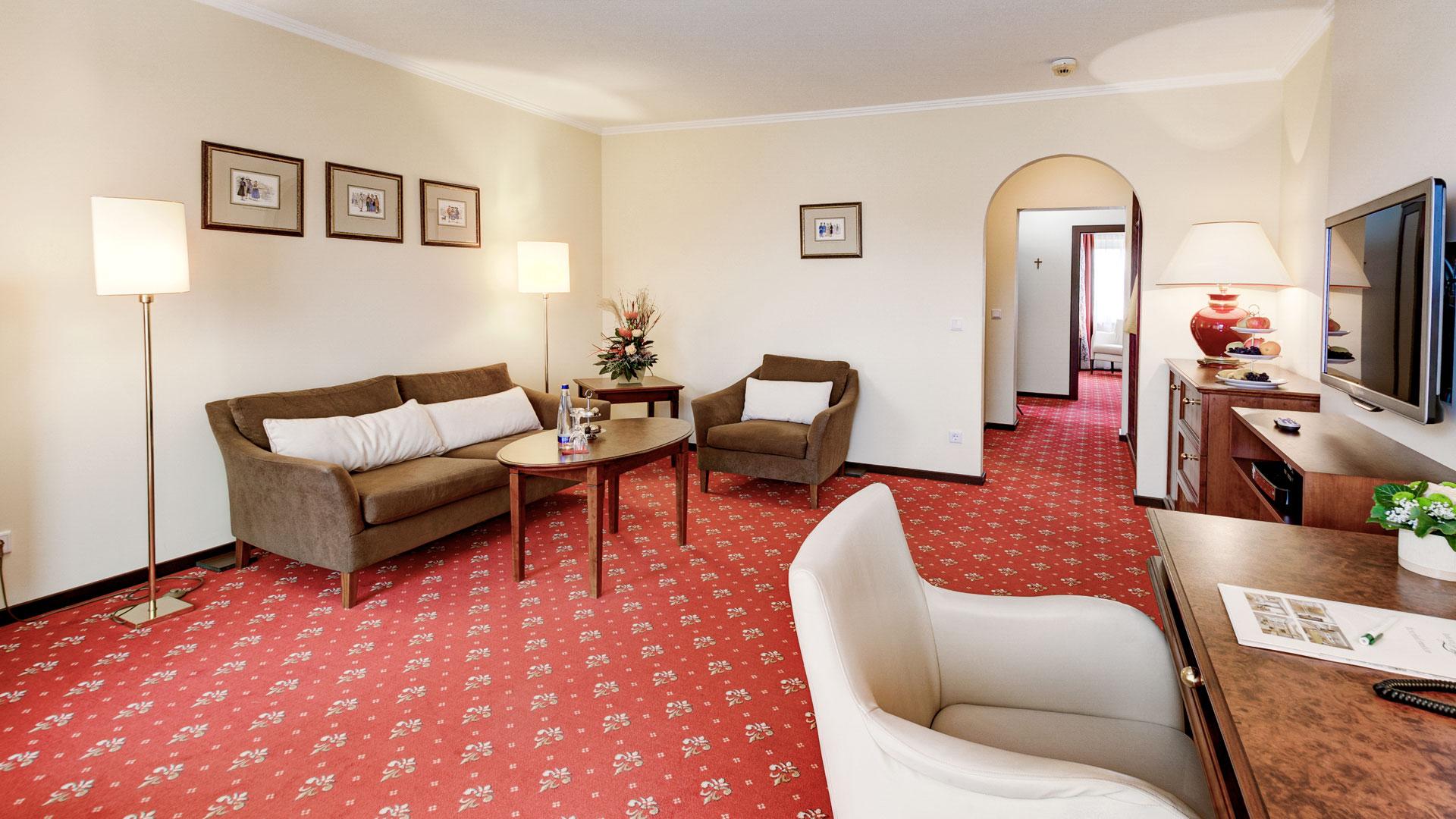 Wohnbereich der Komfort Suite