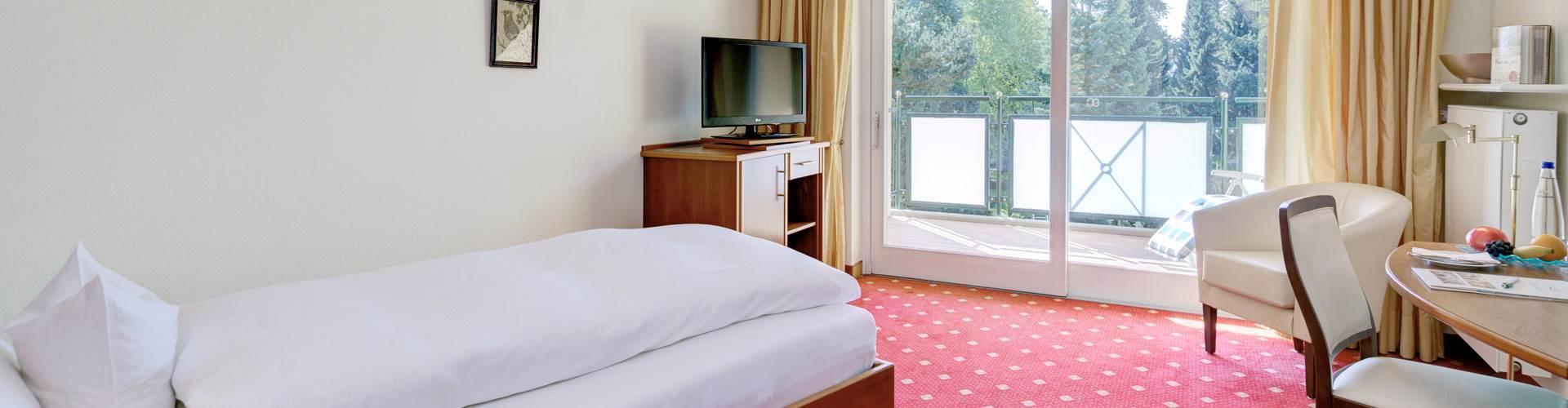 Bett vom Einzelzimmer Therme