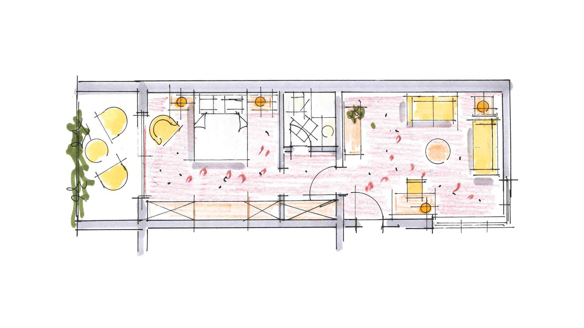 Planskizze Suite